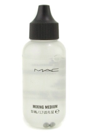 Mixing medium is used to turn loose pigments and shadows into eyeliner or an extra pigmented shadow that applies similar to a paint with more precision. It can be pretty pricey or you can make your own with just 2 ingredients! Glycerin and water.