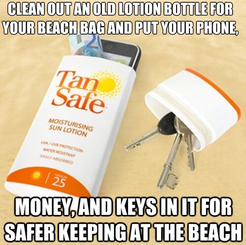 For safe keeping at the beach. Nobody is going to walk past sunscreen and want to use it!