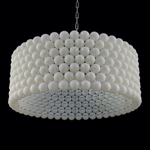 Simple white chandelier