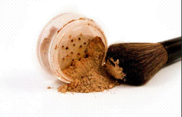 Don't set your foundation with foundation powder! If you do, you'll end up looking caked in makeup! Instead, use a transparent powder.