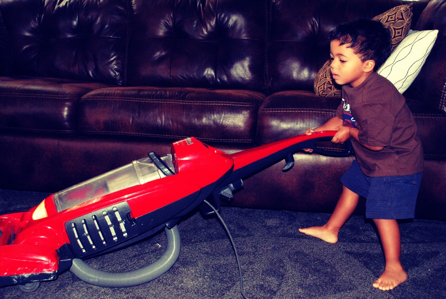 Is your kid scared of ghosts? Give them a vacuum and tell them it sucks up all the ghosts. Send them around the whole house! It's a cleaning hack too!