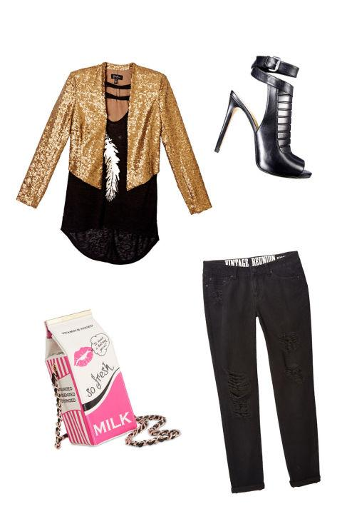 For a Night Out with Friends The Look: Sparkles and Glam