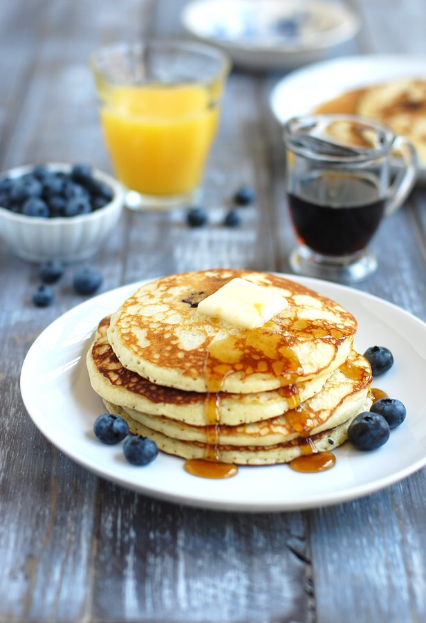 Blueberry pancakes!  Very delicious and a nutritious way to start off the day 💙