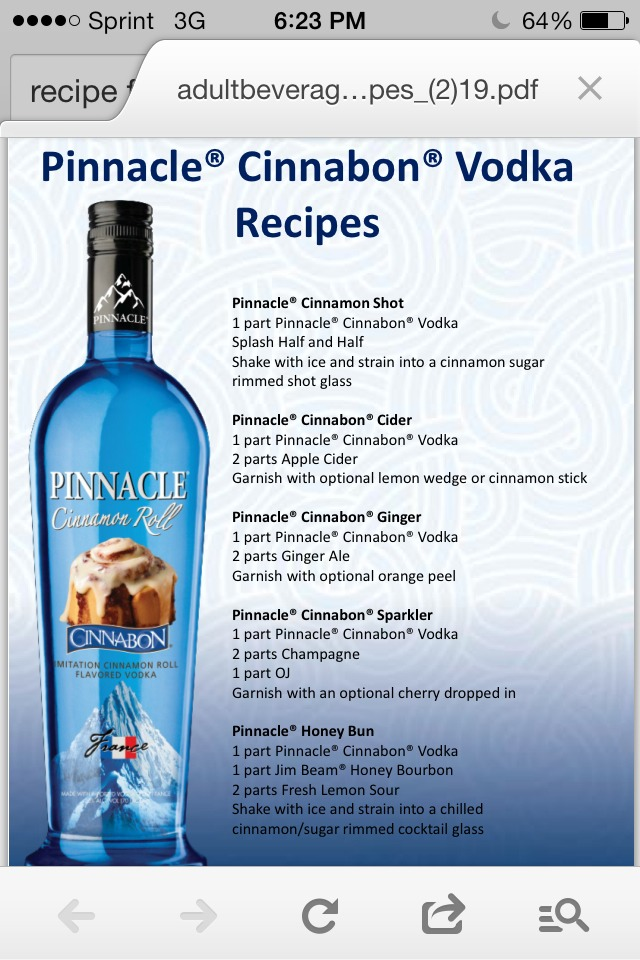 Cinnabon pinnacle vodka recipes besto blog for Delicious drink recipes with vodka