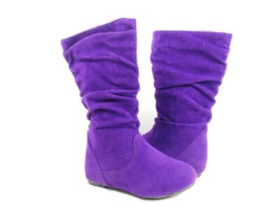 Purple shoes if you have them great if not I just wear black converse or boots