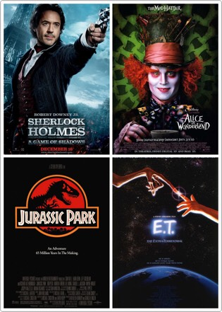 Decorate the area with movie posters