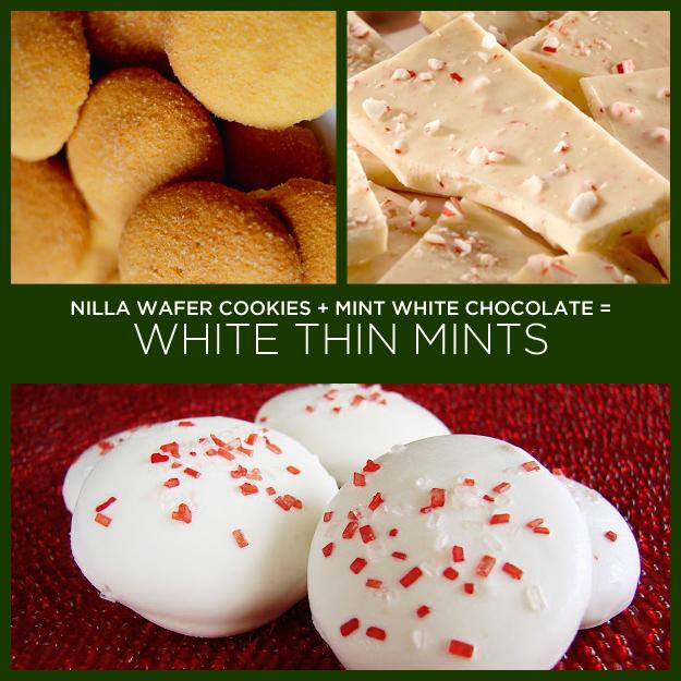 Nilla Wafer Cookies + Mint White Chocolate