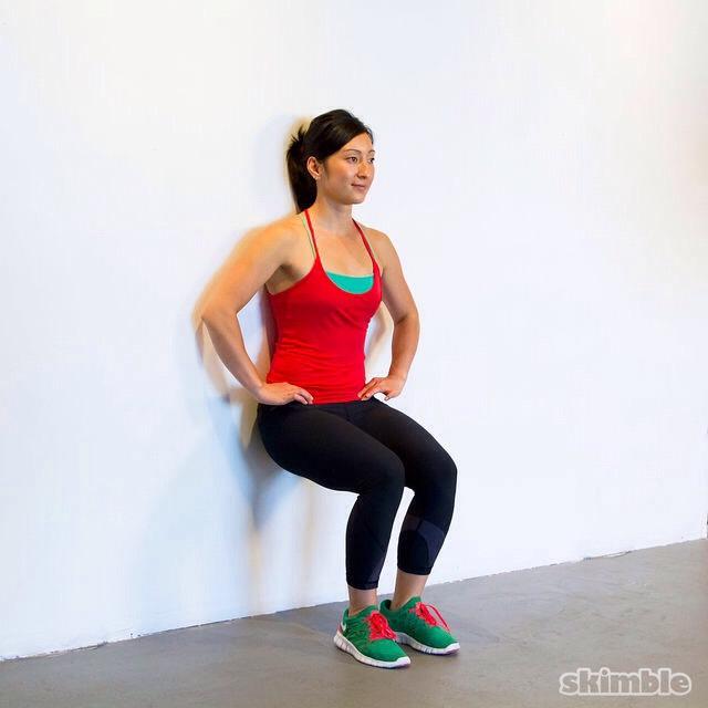 1 minute wall sit