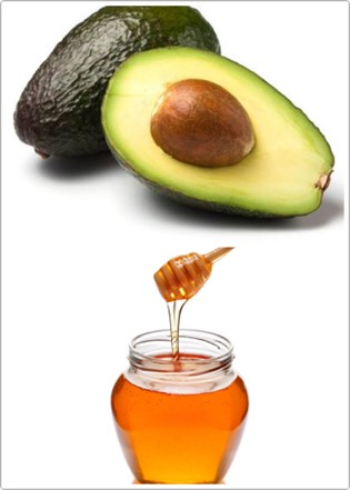 All you will need is half anavacodo and 1 tablespoon of honey
