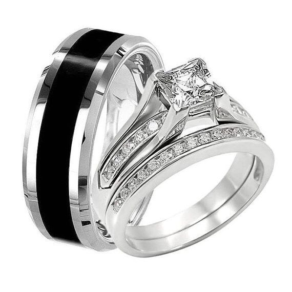 unique wedding rings for him unique couples wedding rings ideas musely 8195