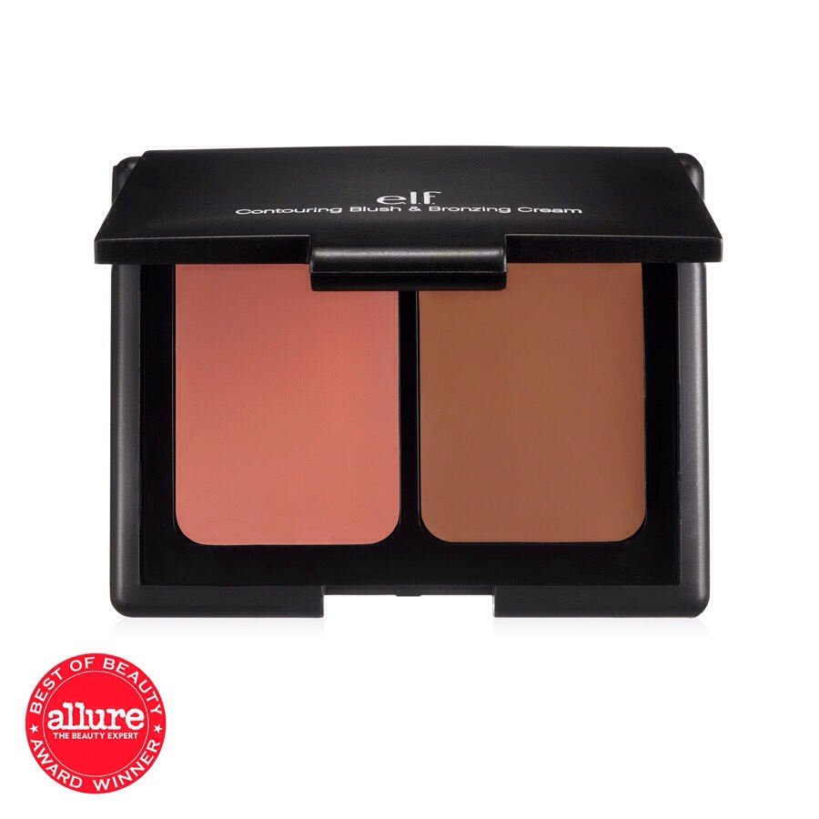 Then add some pink blush to your cheeks. I use elf for my blush.