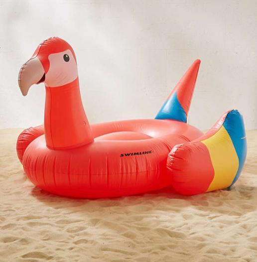 This awesome parrot pool float because we're all 5 years old at heart.