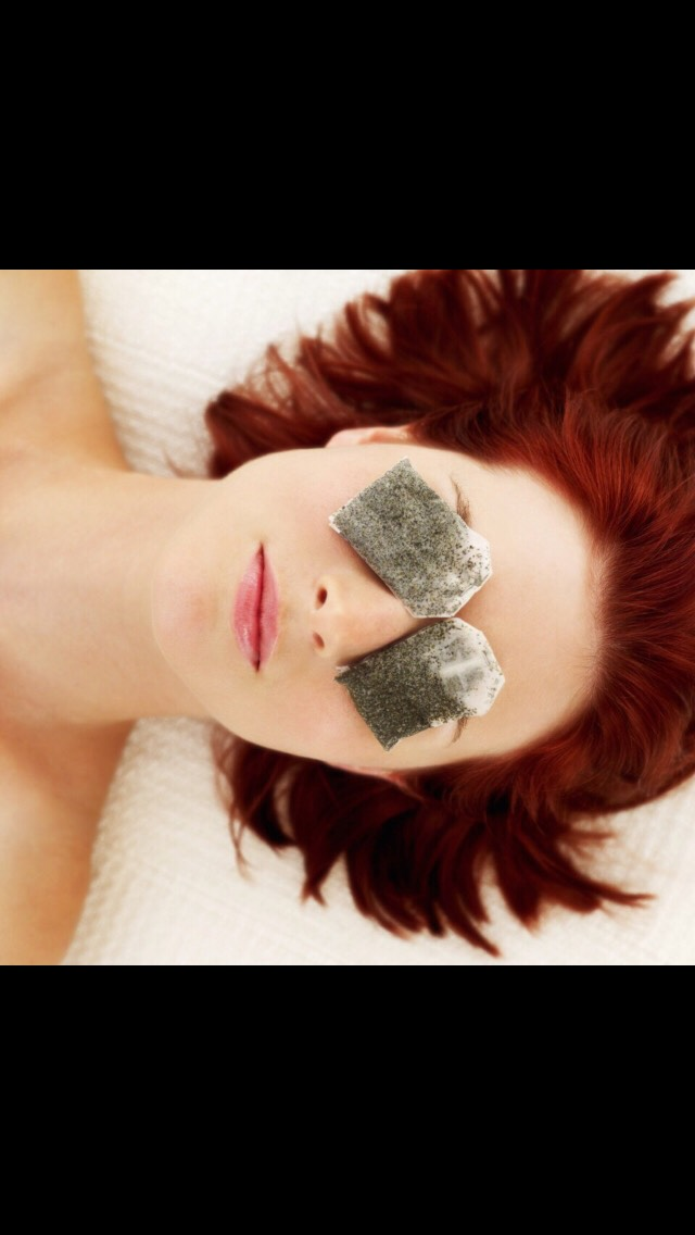 Tea bags can reduce icting and swelling any where in the body x