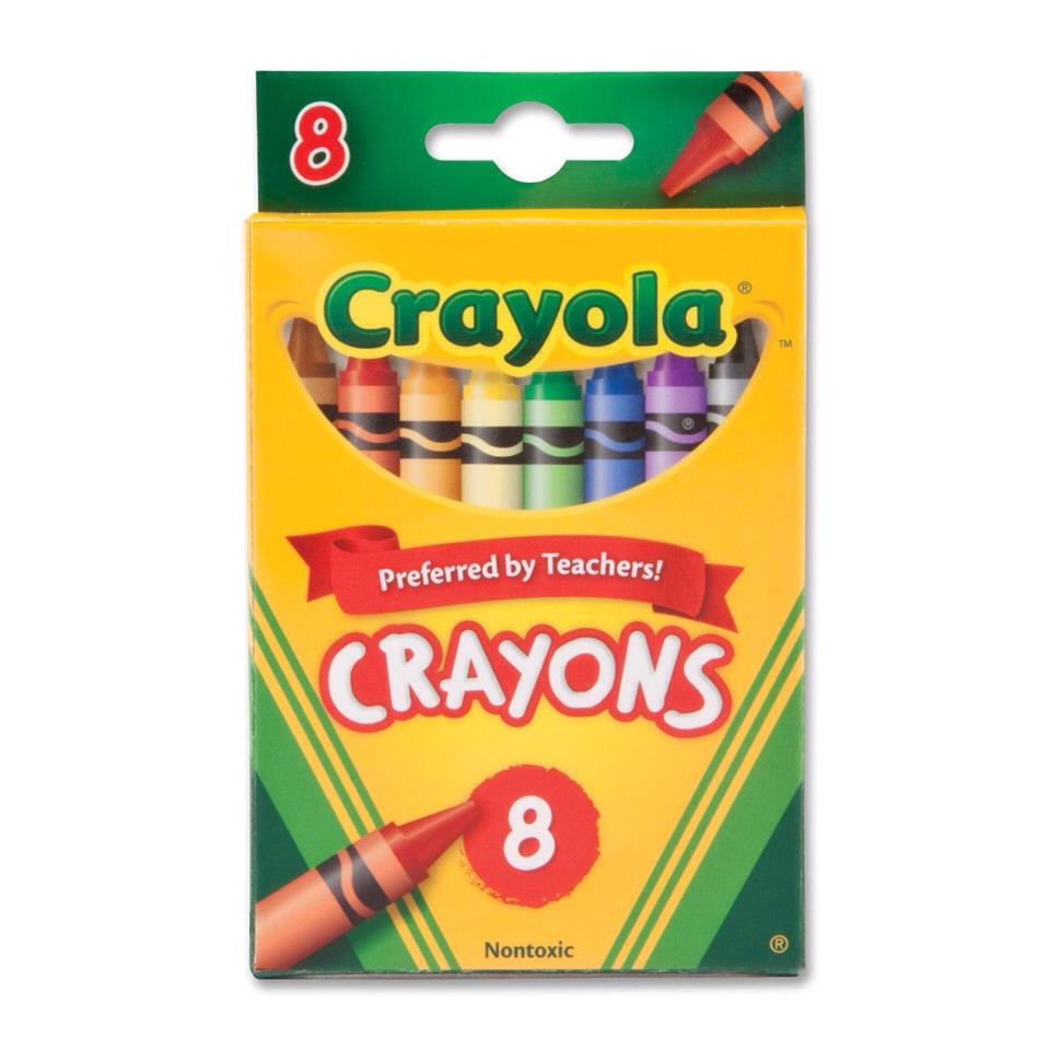 First choose the colour you'd like your eyeliner to be. I recommend using crayola brand crayons as they are non-toxic. After all they are meant for children!