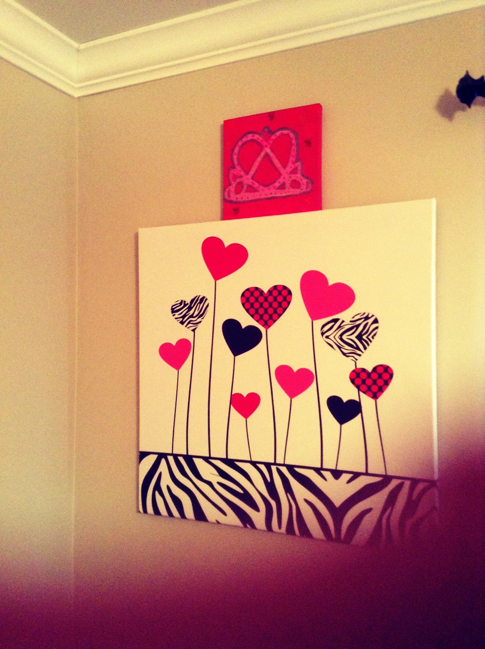 Canvases the one on top I painted