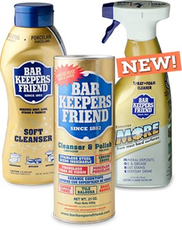 Bar keepers friend is the best product to clean with! From pots to dirty basins