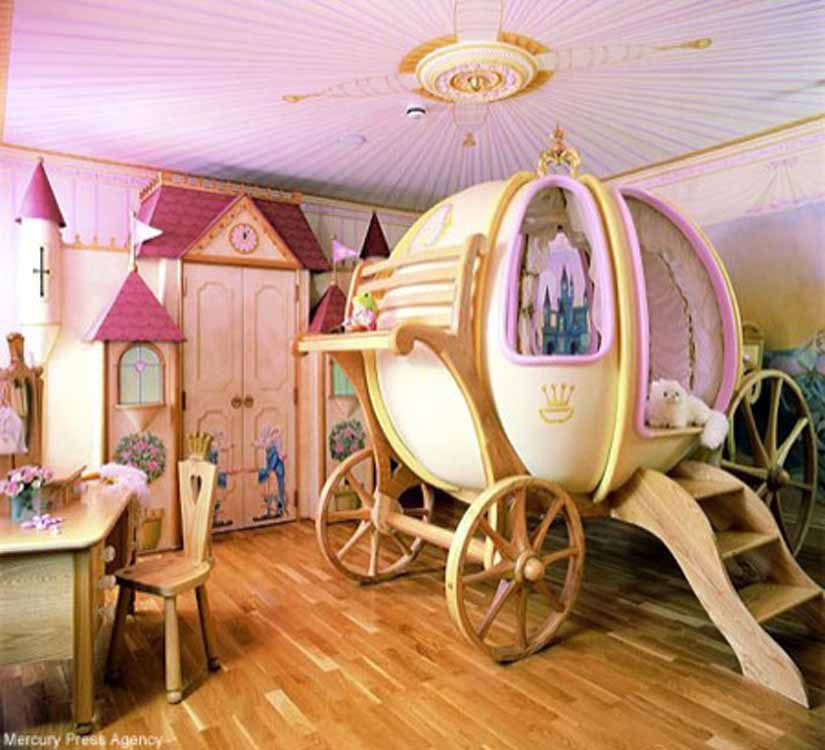This is a very cool room made mainly for little girls which loves fairy tales and princesses.