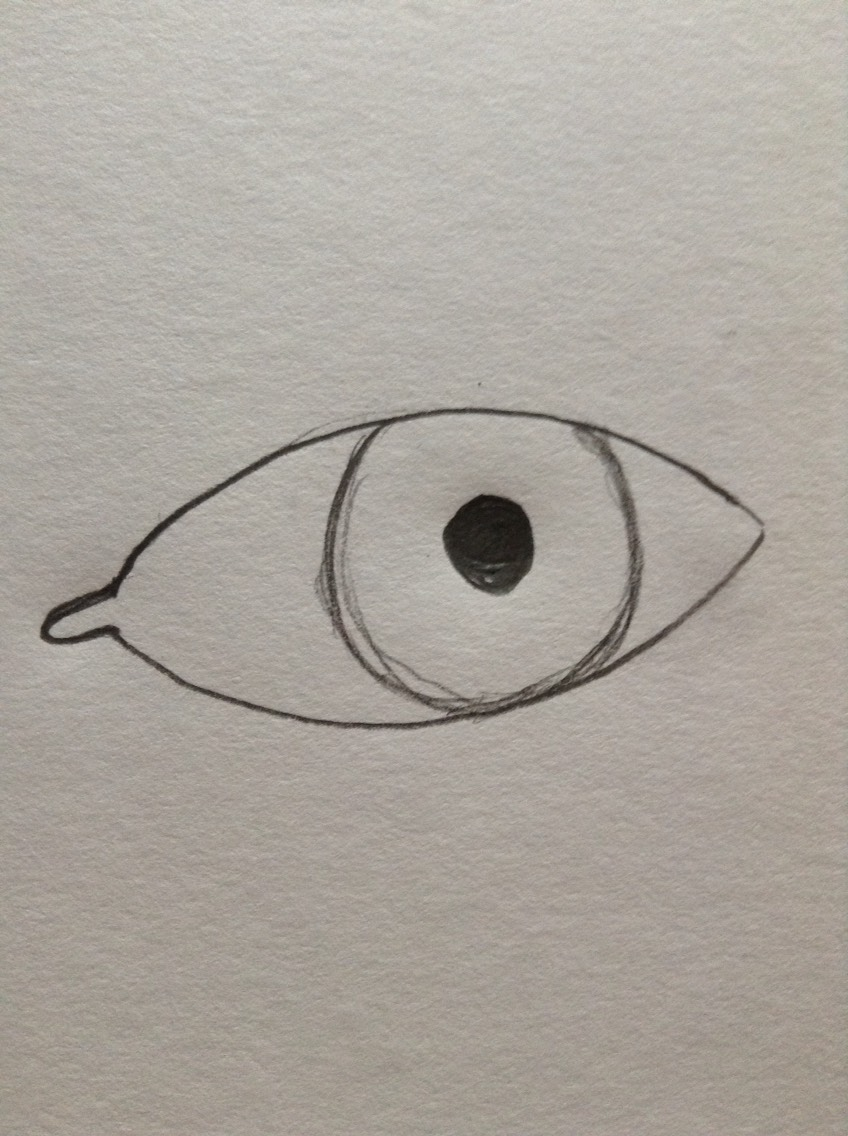Add the pupil which should be as round as you can make it