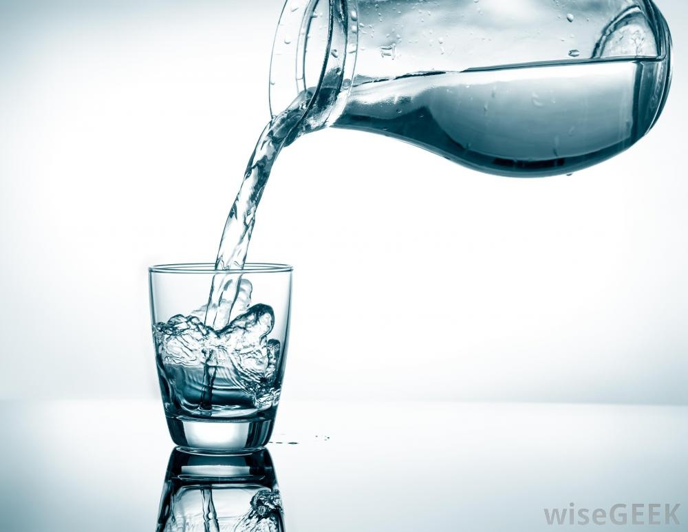 Less than half a cup of water