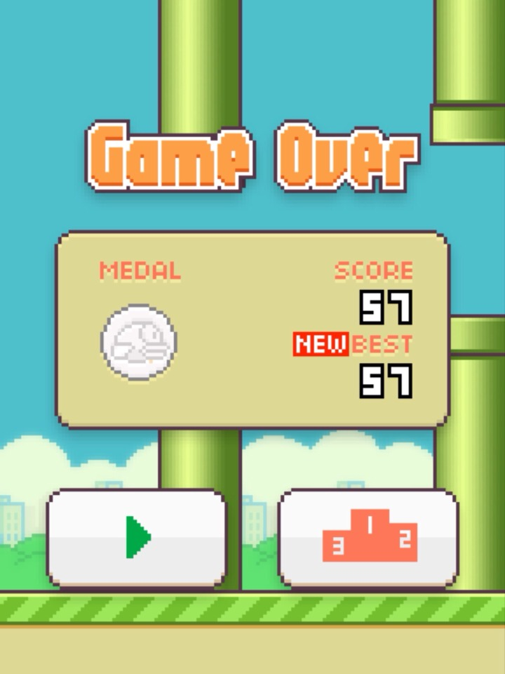 And that is how I got my high score, of 57!