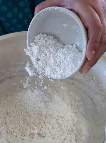 Add ¾ cup powdered sugar.
