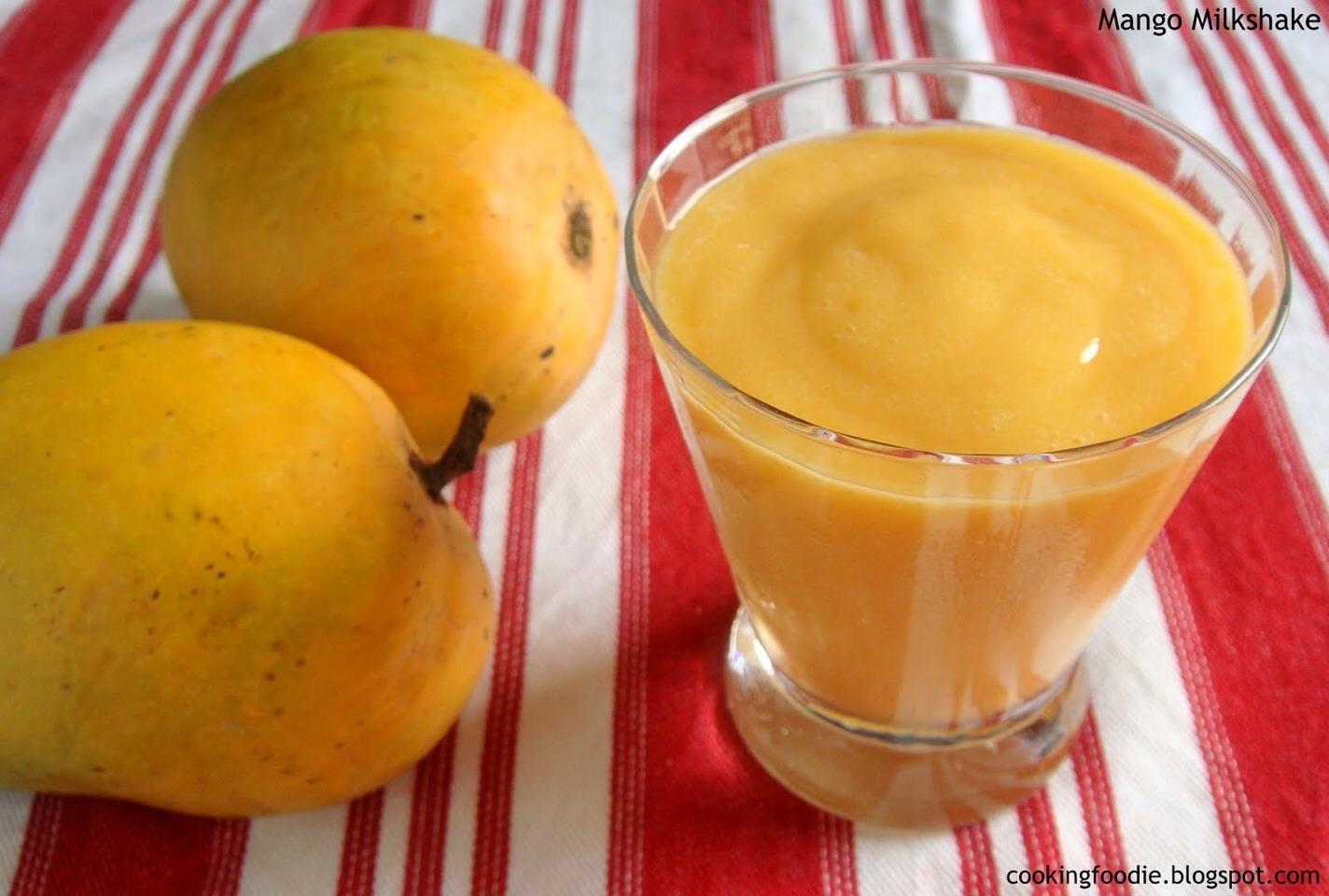 Slushy mango shake