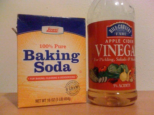 14. Use baking soda and vinegar to unclog a drain.