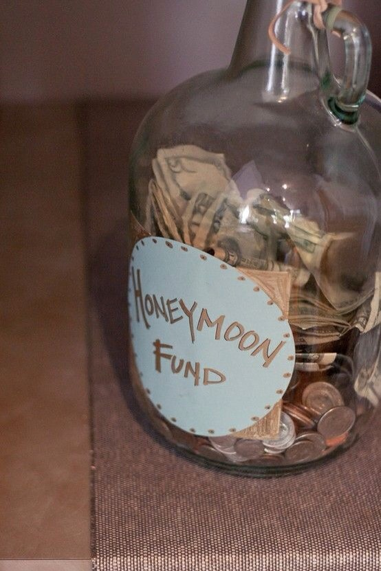 Place a jar by the guest book and see how much extra money you can take with you on your honeymoon