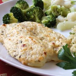 """Creamy cheese coating for an impressive flavor and texture."""""""
