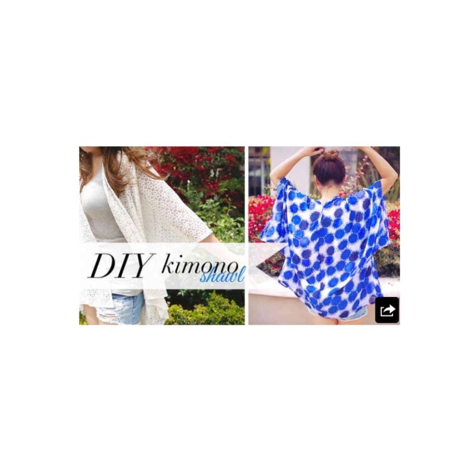 Stylish Kimono Shawl http://www.lifeannstyle.com/diy-kimono-shaw-music-festivals-and-beach-coverup/