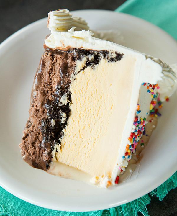 Serving Dairy Queen Ice Cream Cake