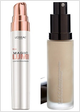 You also have to get a luminous primer to put on before your foundation. The lorealone is a good affordable drug store primer and the becca backlight primer is a good high end.