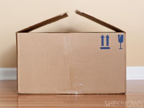 1. Start with an empty cardboard box
