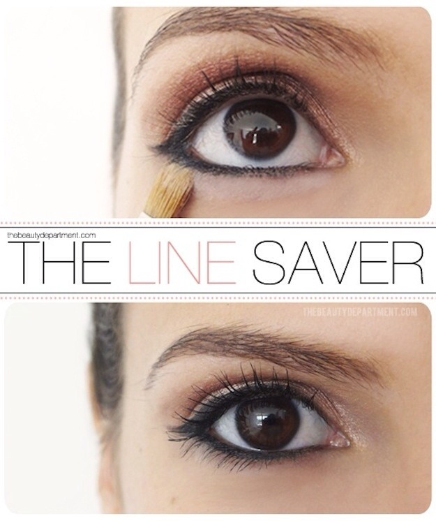 Concealer keeps liner in place all day. Pls tap for full view.