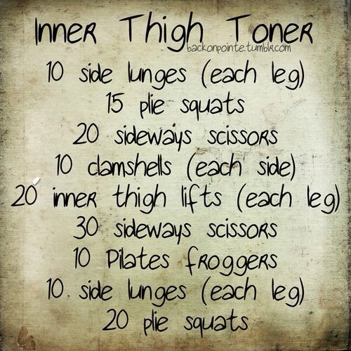 The inner thighs can be very hard to target, but this short workout will really tone them up.
