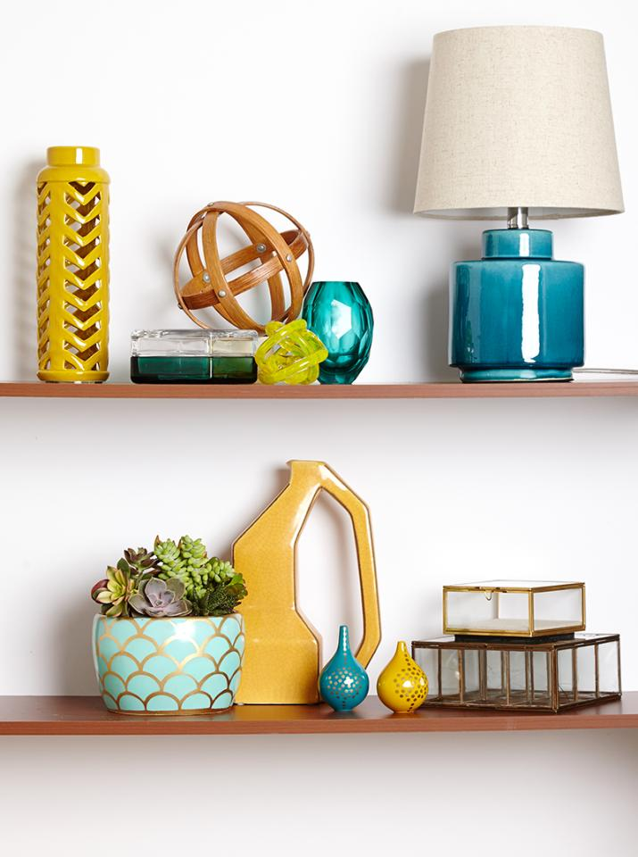 best ways to decorate your shelves. Decorating shelves is a really easy way to make an impact on the design of your house, and it's completely free! Look at their directions for some really creative ideas!