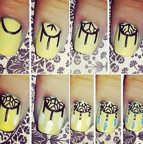 Other ways and ideas to do dream catcher nails