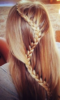 I love this braid! It's called a zig zag or snake braid (which ever one you like )