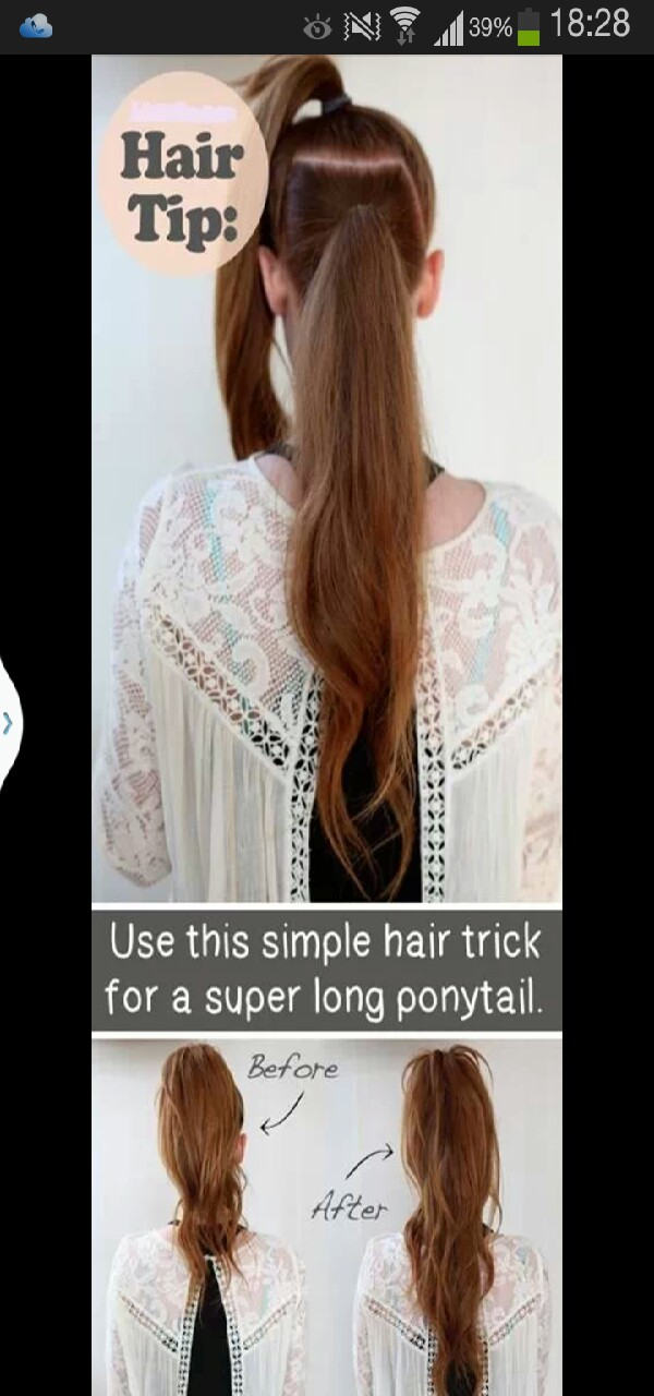 Please give this a thumbs up if you like it. A simple tip to make your hair look longer