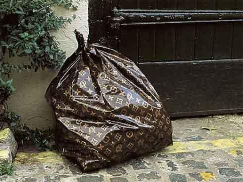 A Louis Vuitton Trash Bag... :/