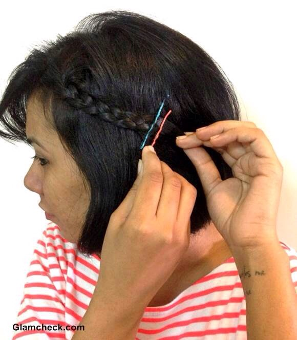 just make a braid on the side of your head then u add the bobby pin to secure it