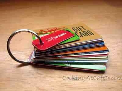 Save Space In Your Wallet & Organize All Your Gift & Store Rebate Cards By Putting A Hole Punch through them and adding them to key ring ...
