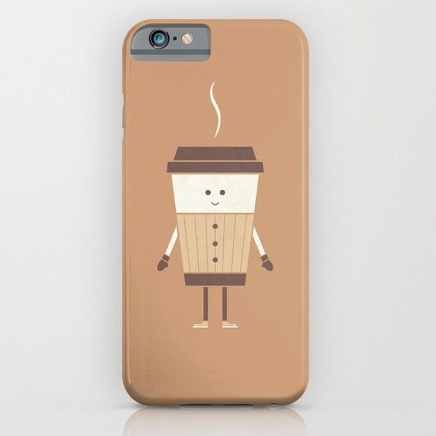 23. A phone case decorated with a snugly-dressed coffee cup.  https://society6.com/product/cold-weather-coffee_iphone-case?isrc=src.search-hue.1-srt.popular#9=375&52=377