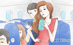 Stay hydrated. On the day of your flight, drink plenty of fluids. Dehydration is one of the symptoms of jet lag, and the dry, cabin air on the plane doesn't help. Stay away from any beverages with alcohol or caffeine in them, as the side effects of dehydration can do more harm than good.