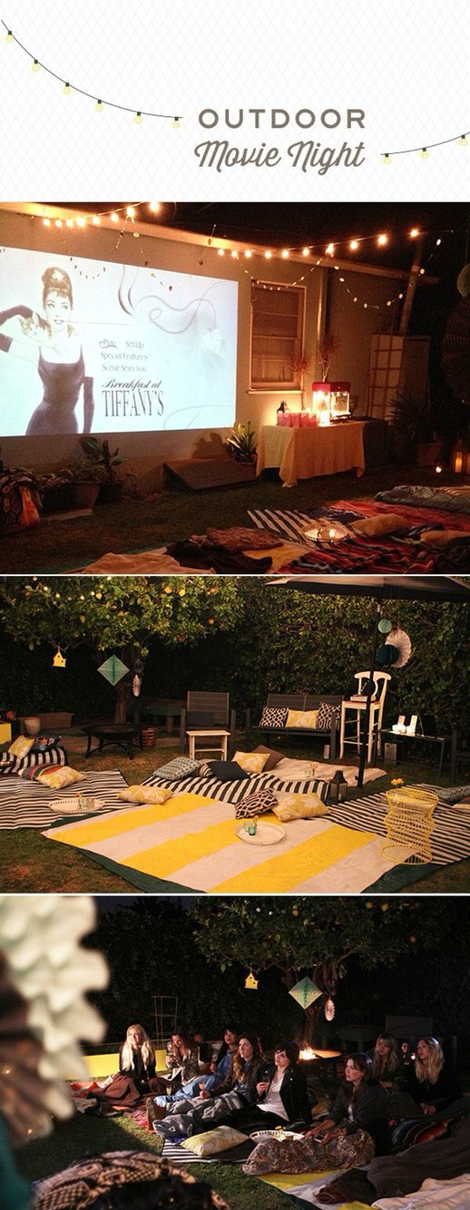 If you don't want to leave your house, have an outdoor movie night.