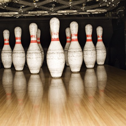 Bowling is a good idea. Its a fun game, sometimes there's an arcade and dont forget about food!