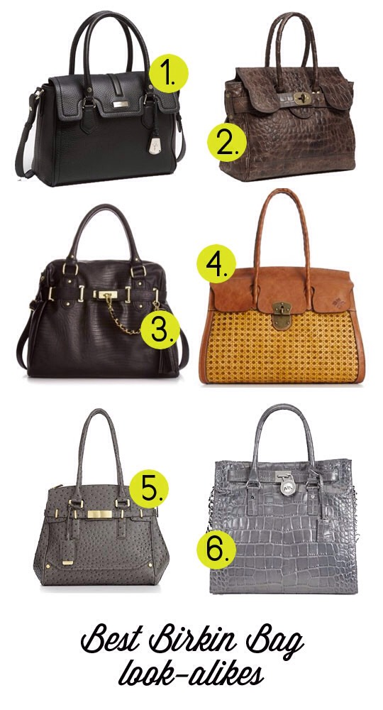 3. Get you a look alike honey and keep movin! We can't all afford even our second hand Birkin steal. Grab a bag that resembles a favorite texture, quality and the hardware of a Birkin. Try some look alikes are above.
