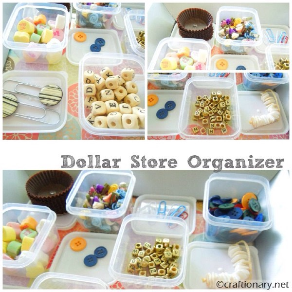 Organizing With Dollar Store Items: Musely