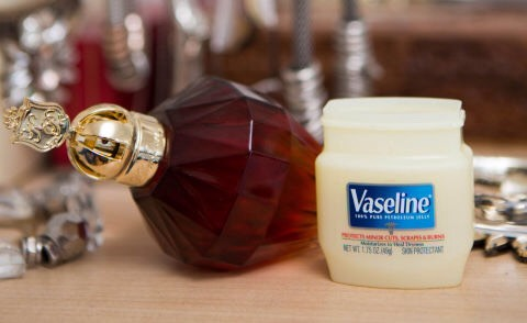 25.Apply Vaseline on your pulse points before sprayingyour perfume to make the scent last longer.  Since the ointment is occlusive, it will hold the fragrance on your skin longer than if you were to spray the perfume just onto your skin.