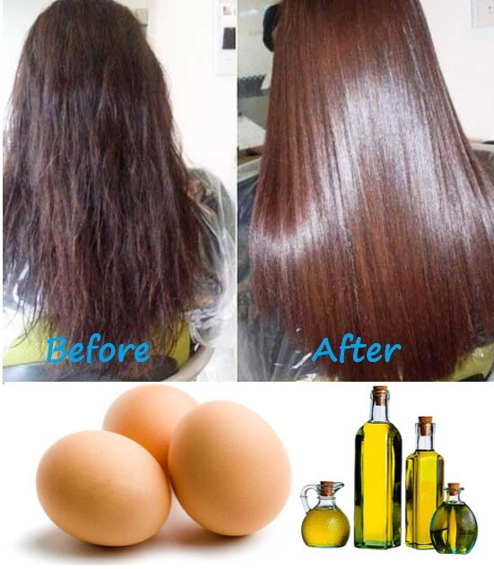 The olive oil and egg hair mask hydrates your hair and makes it soft and shiny.✨✨